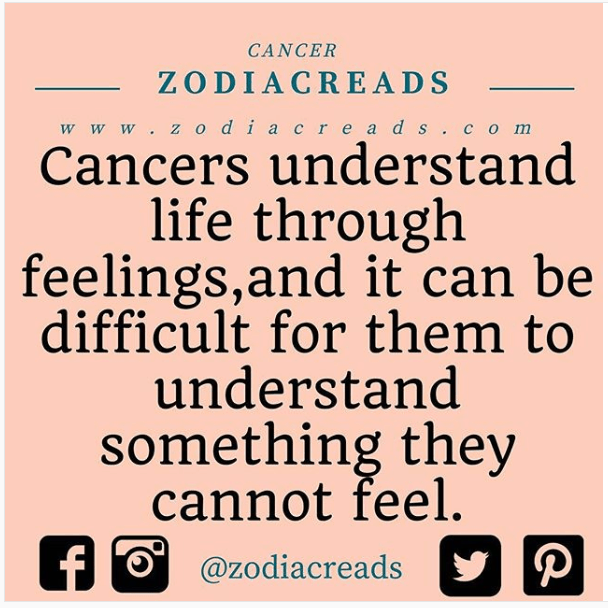 Cancer and Understanding Zodiacreads facts
