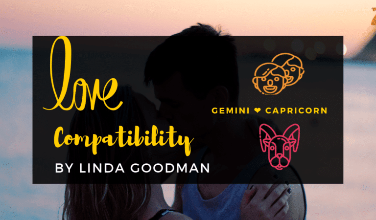 Gemini And Capricorn Compatibility From Linda Goodman's Love Signs
