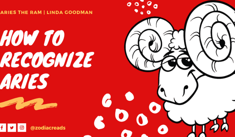 How to Recognize ARIES, Aries the Ram by Linda Goodman