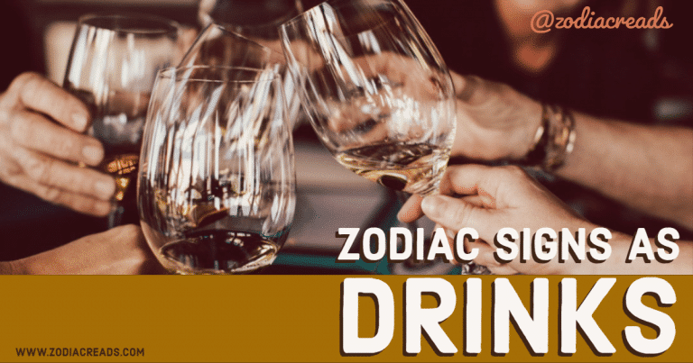 Zodiac signs as Drinks Zodiacreads