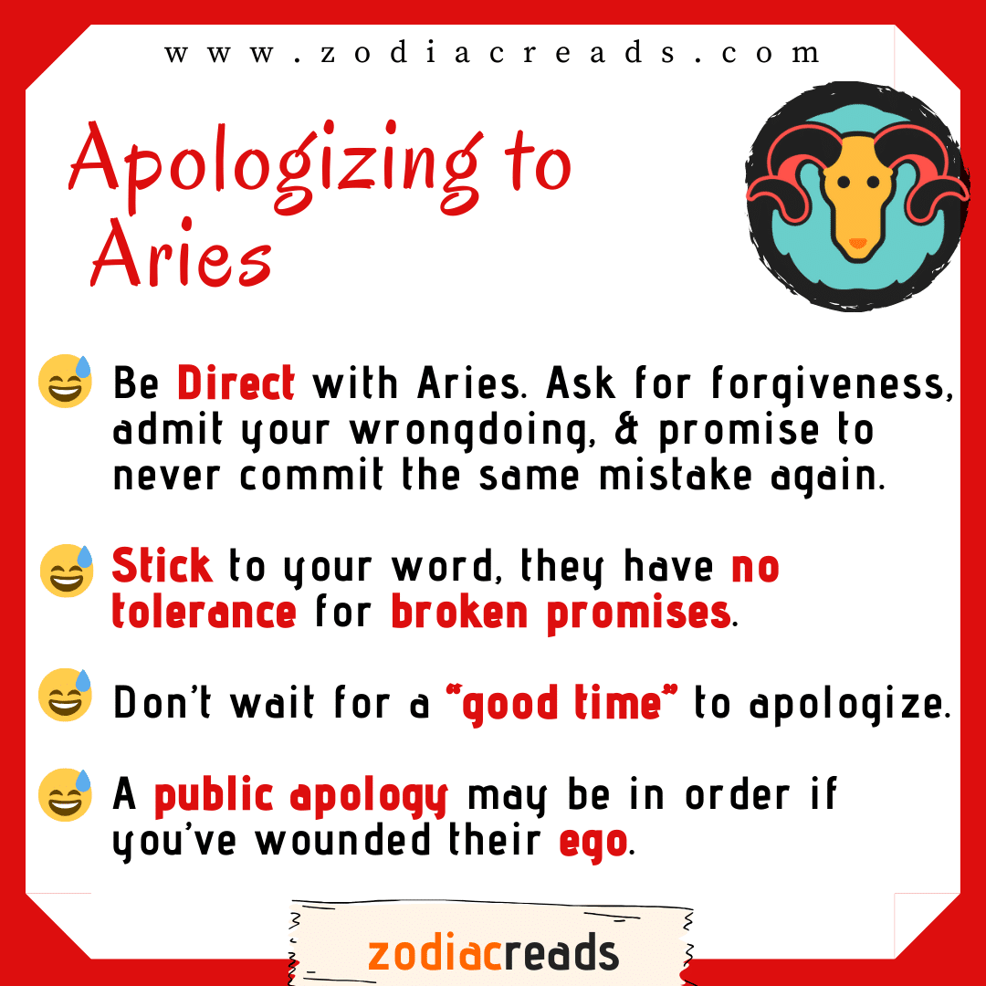 1 Aries - Apologizing to Signs Zodiacreads