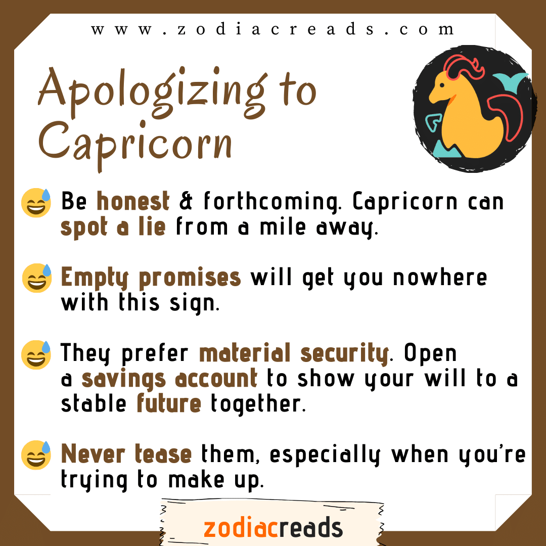 10 Capricorn - Apologizing to Signs Zodiacreads