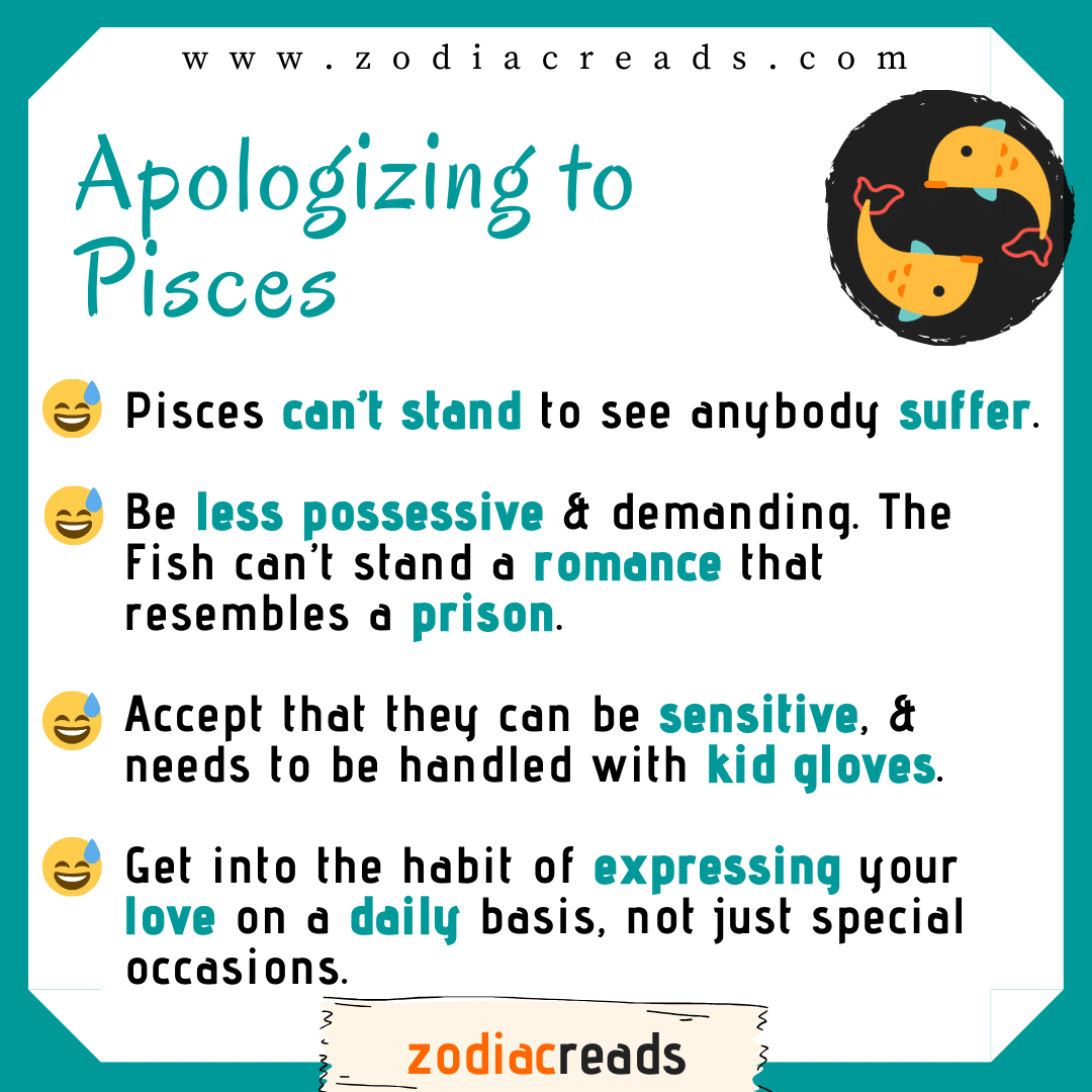 12 Pisces - Apologizing to Signs Zodiacreads