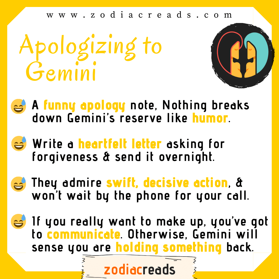 3 Gemini - Apologizing to Signs Zodiacreads
