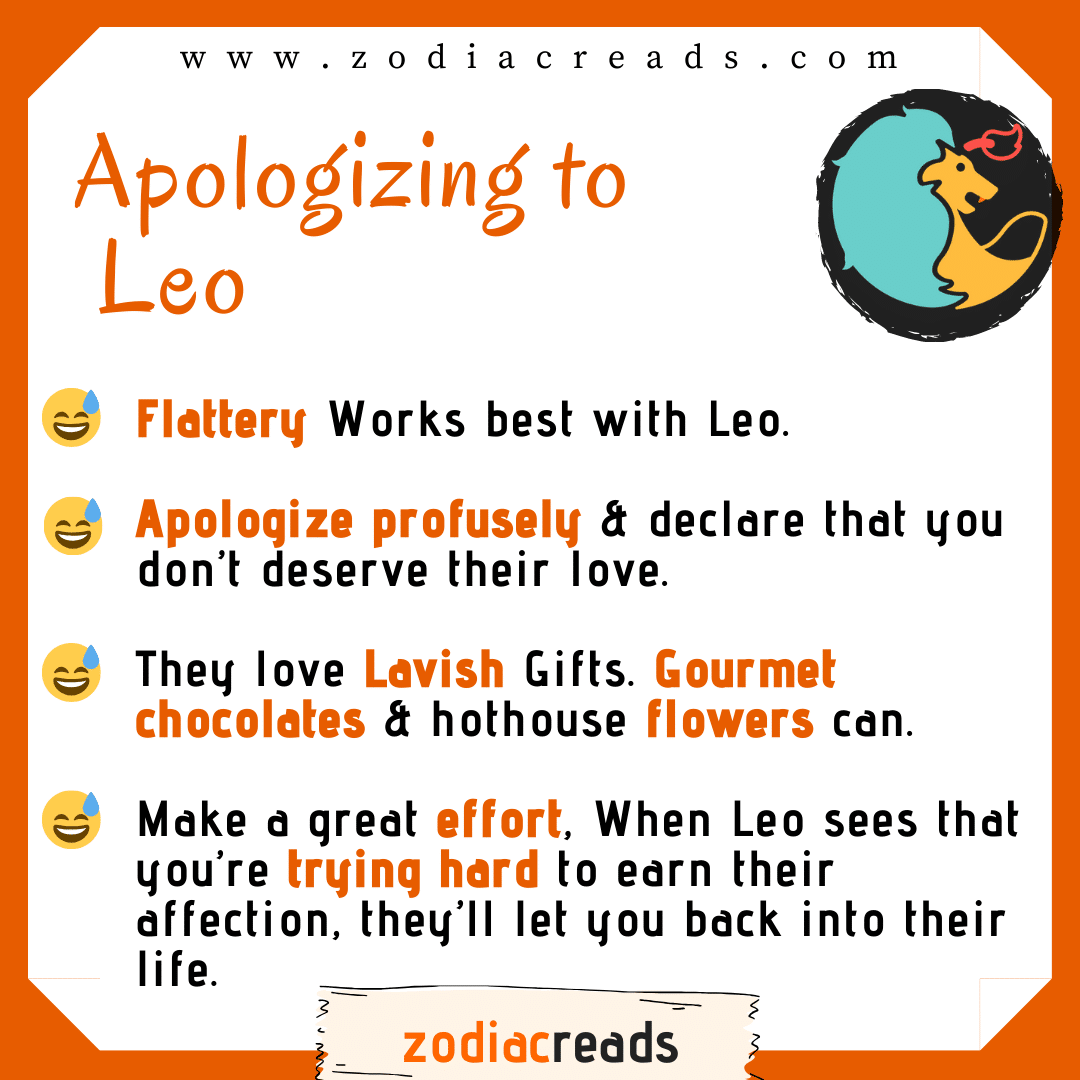 5 Leo - Apologizing to Signs Zodiacreads