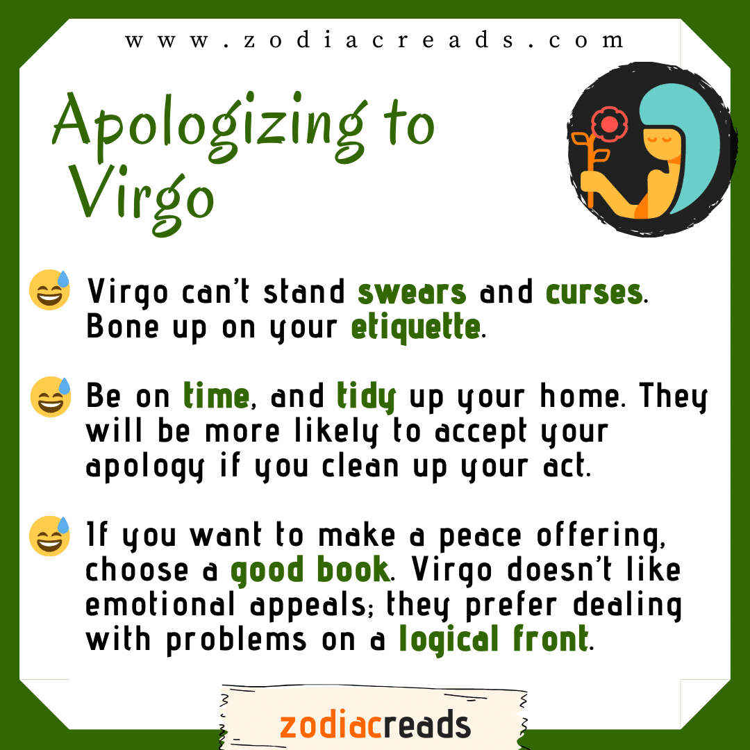 6 Virgo - Apologizing to Signs Zodiacreads