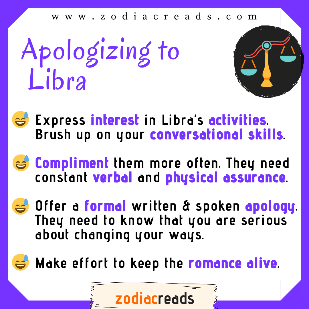 7 Libra - Apologizing to Signs Zodiacreads