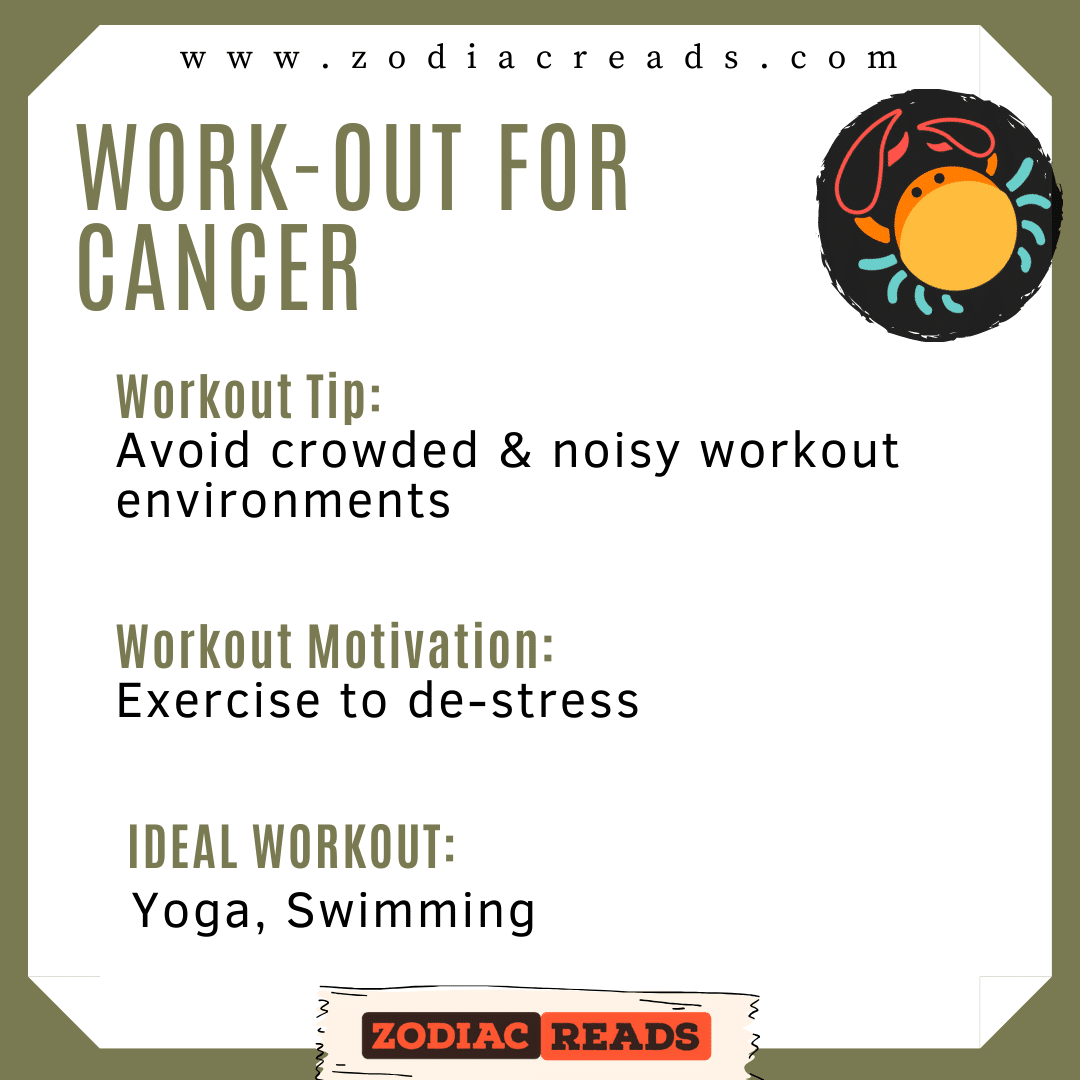 4 CANCER WORK OUT ZODIACREADS