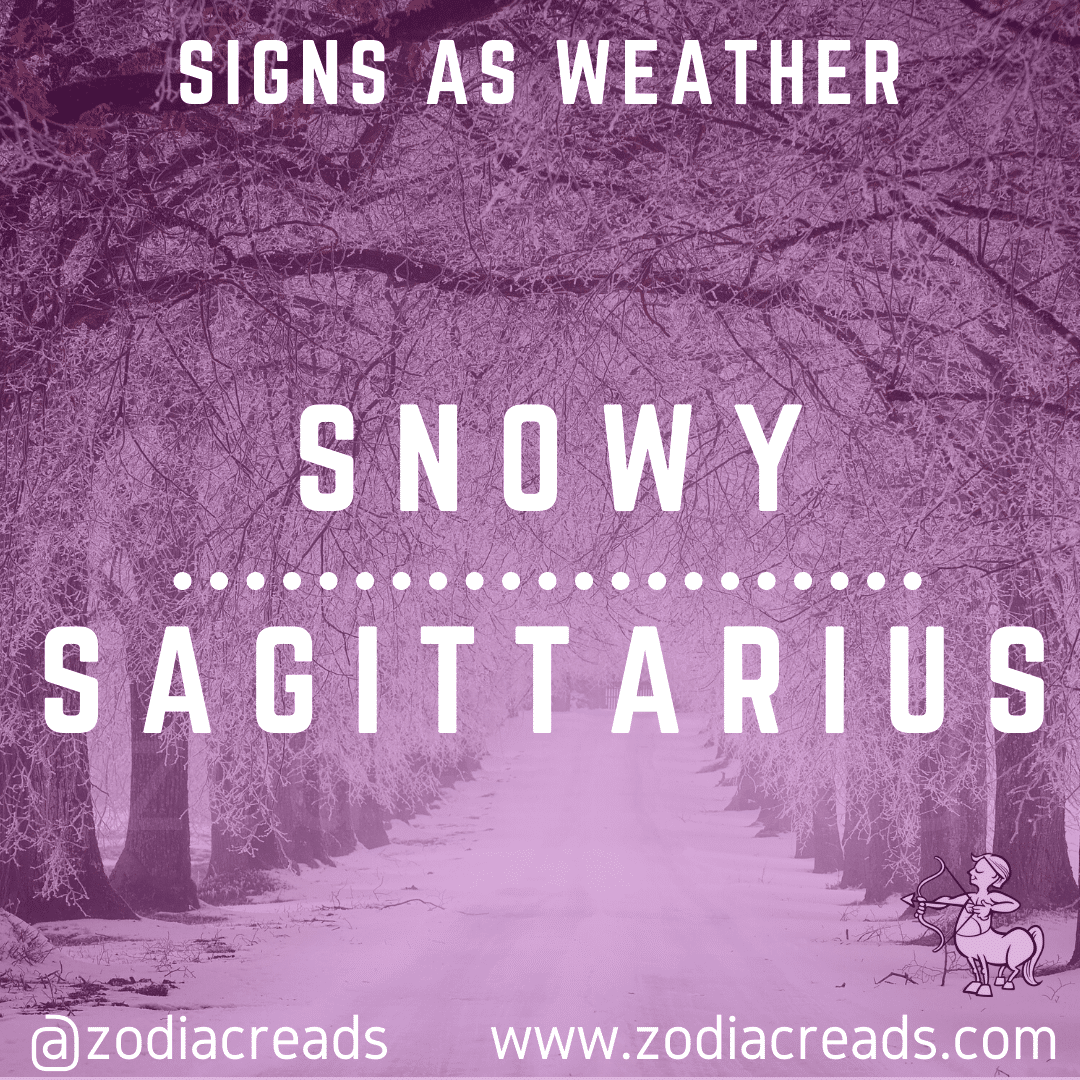 9 SAGITTARIUS AS SNOWY Signs as Weather Zodiacreads