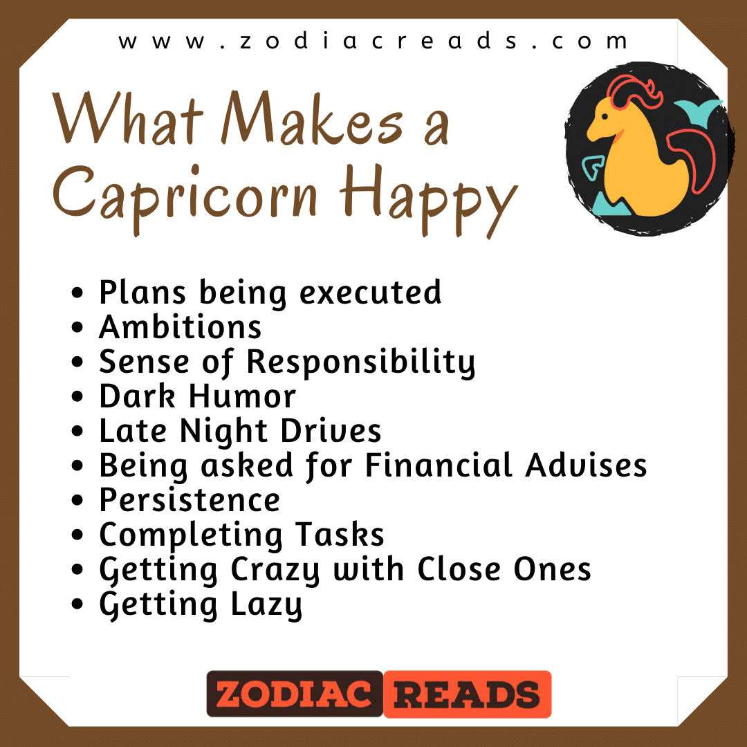 What makes a Capricorn happy