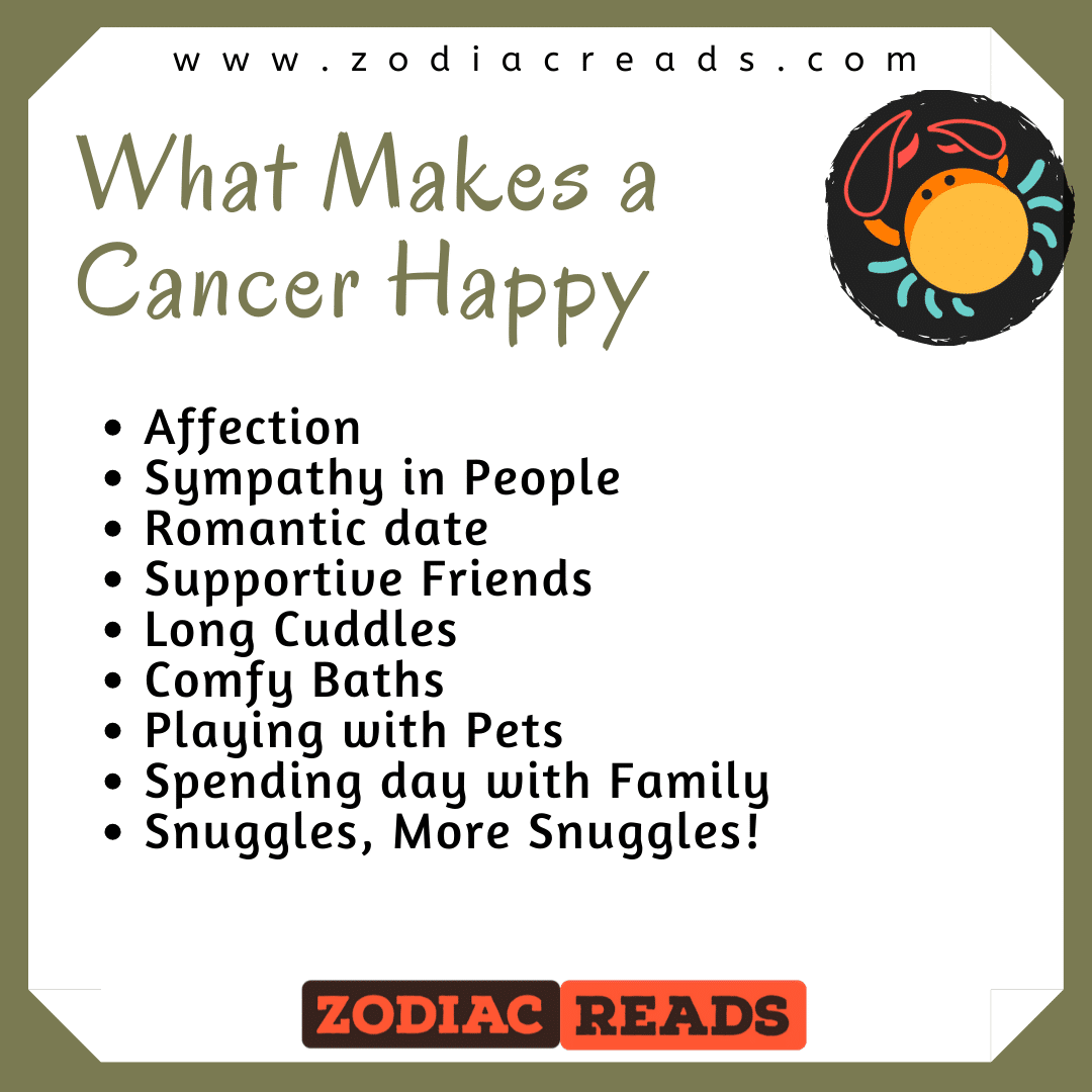 what makes a cancer happy