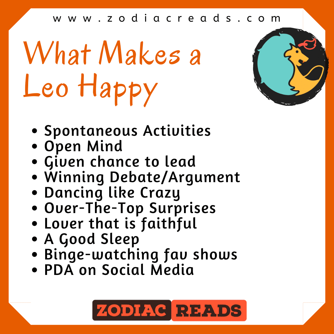 what makes a Leo happy