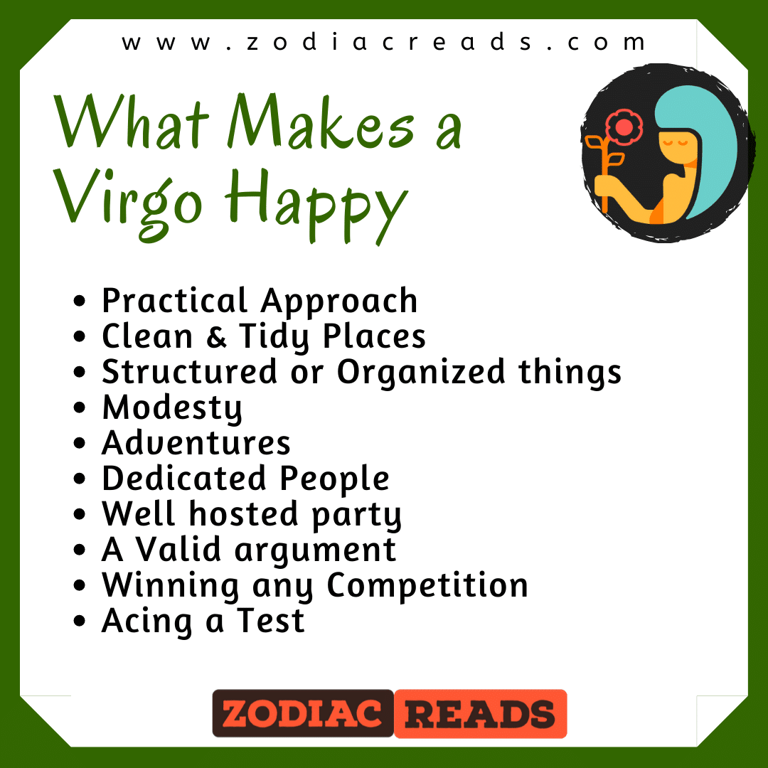 what makes a virgo happy